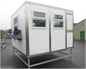 Insulated cabin for picking stations